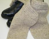 SALE*******Hand Knitted Porage Heather Kilt Hose for the Big Yin