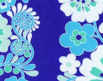 Fabric 'Queen Street' Periwinkle Floral by Jennifer Paganelli for Free Spirit 1 Yard