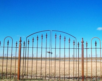 """Double Opening Gate 43"""" wide and Works with Our 3' tall Wrought Iron Fence"""