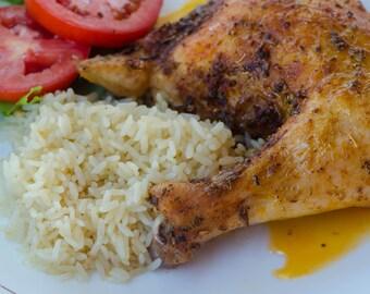 Greek Roast Chicken & Rice Recipe