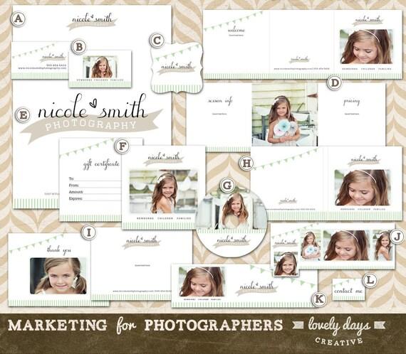 Photography marketing templates branding set for photographers for Photography marketing templates free