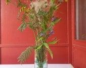 Flower vase made from upcycled wine bottle (Reserved)