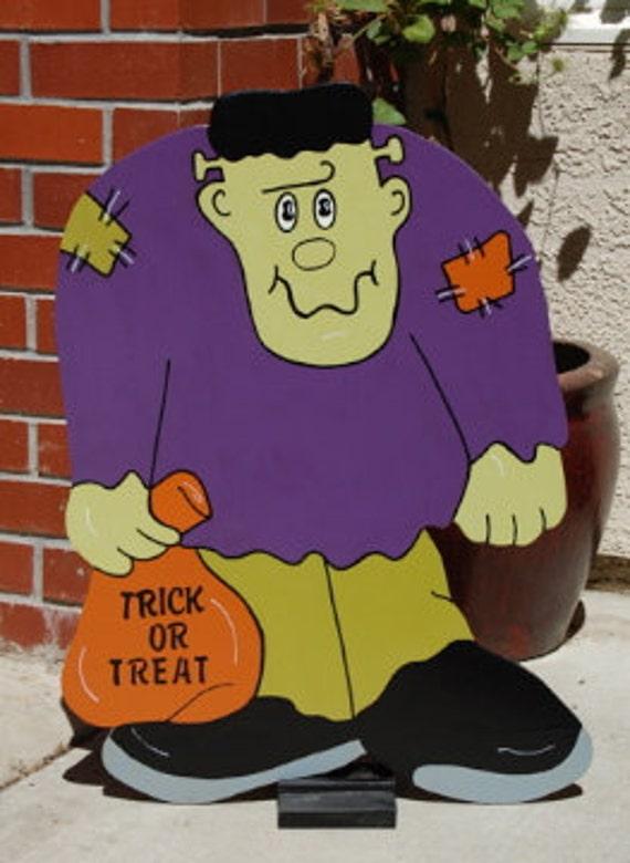 Halloween Frankenstein Wood Decorative Sign