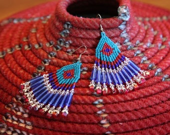 Beaded dangle earrings in fabulous colors