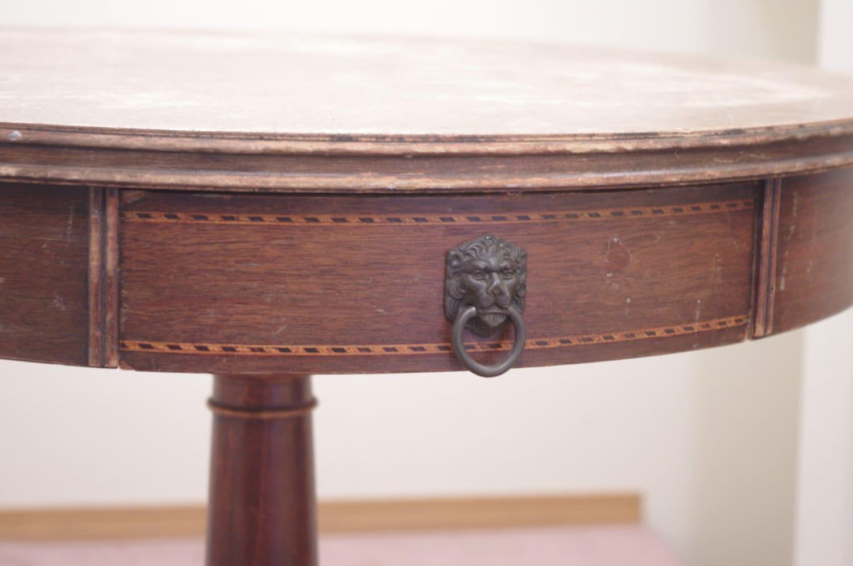 Mersman Antique Round Lion Table