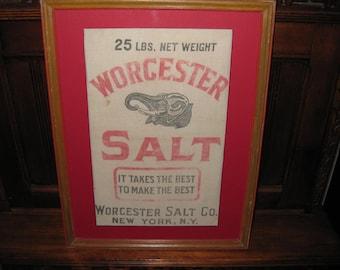 """WORCESTER SALT BAG Framed 13"""" X 17"""""""