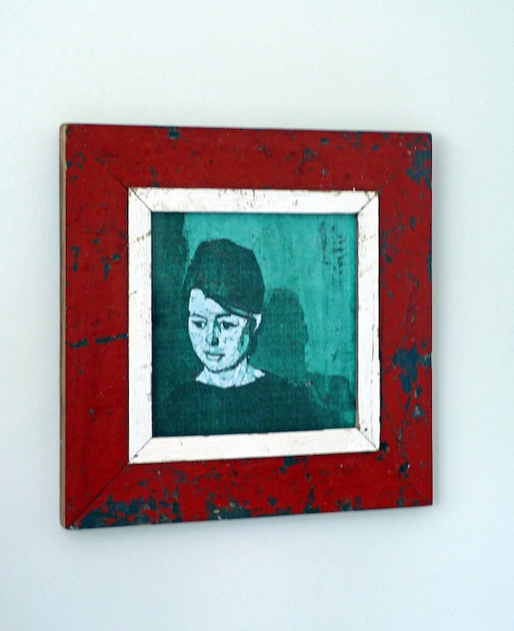 Blood Red Distressed Frame