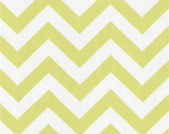 One Yard Zig Zag in Light Lime 100% Cotton Twill Fabric