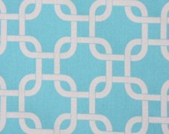 Handmade Curtain/Window Valance 50W x 15L in Gotcha in Girly Blue 100% Cotton,Home Decor,Nursery,Baby's Room