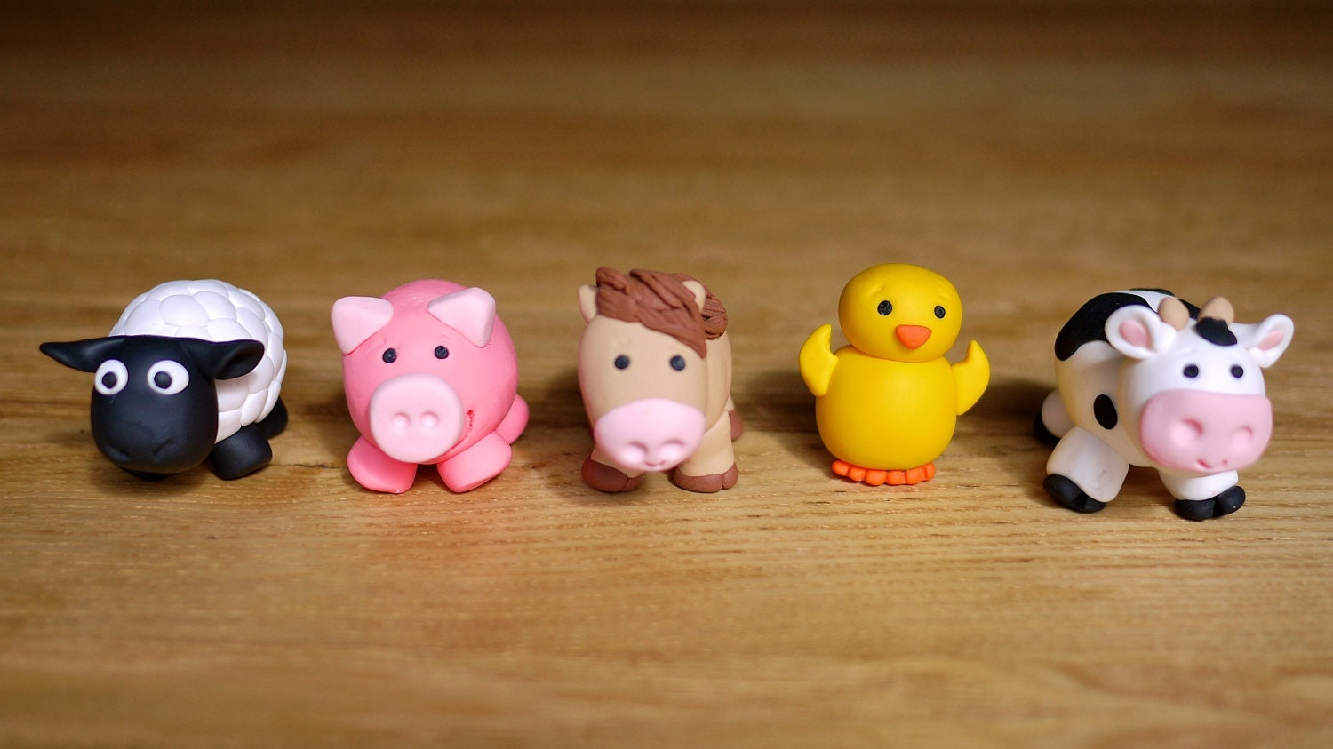 Cake Decorations Farm Animals : Handmade Farm Animal Cake Toppers