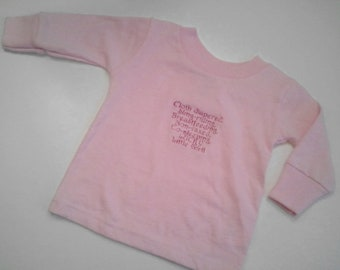 Long Sleeve 6m size LUCKY Girl  Advocacy shirt (breastfeeding, cloth diapering, babywearing, etc.)