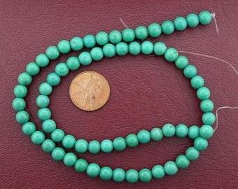 6mm round turquoise beads gemstone