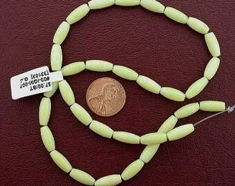 12x5 yellow melon howlite gemstone beads 15 inch strand