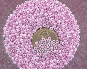 20 gram lot rose 11 seed beads