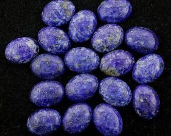 one 30mm x 22mm oval lapis cabochon 30x22 gem  gemstone