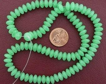 8mm rondelle gemstone green aventurine beads