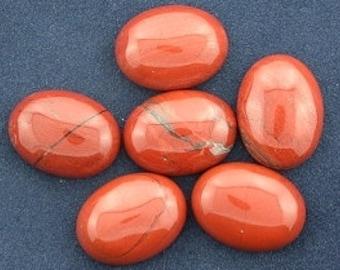 FOUR oval 16x12 red jasper cabochon gem stone gemstone