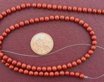4mm round gemstone red jasper gemstone beads