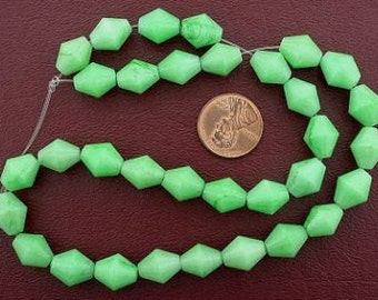 bicone gemstone green aventurine beads