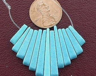 synthetic turquoise cleopatra 13 pc fan bead set