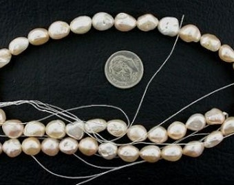 16 inch strand large peach freshwater pearls