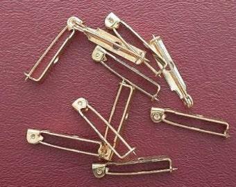 nine one inch brass pin bars