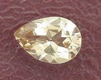6x4 pear champagne topaz gem stone gemstone 6mm x 14mm