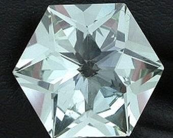 14mm hexagon blue quartz  gem stone gemstone