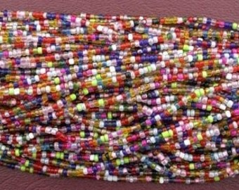 sixteen 14inch strand multi color 2mm - 2.5mm seed glass bead