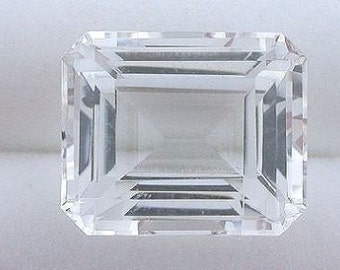 10x8 10mm x 8mm emerald cut quartz gem stone gemstone