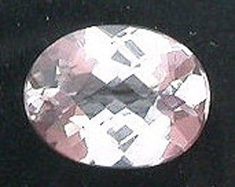 7x5 oval checkerboard morganite gem stone gemstone