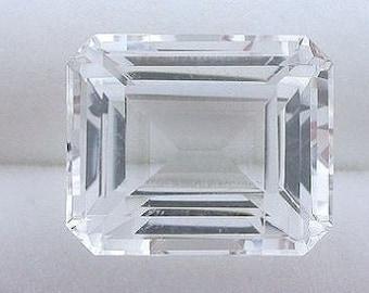 12x10 emerald cut topaz gem stone gemstone