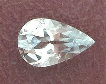 8x5 pear light blue aquamarine gem stone gemstone