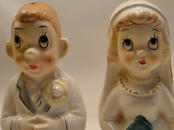 Married Life Bride and Groom Salt and Pepper Shakers