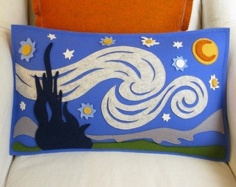 Starry Night Van Gogh Pillow for the Budding Artist