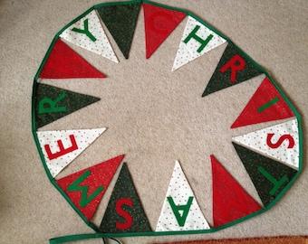 Handmade Christmas bunting