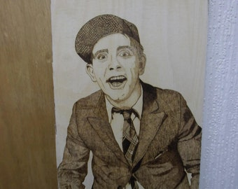 Pyrography - wood burning art  - Norman Wisdom