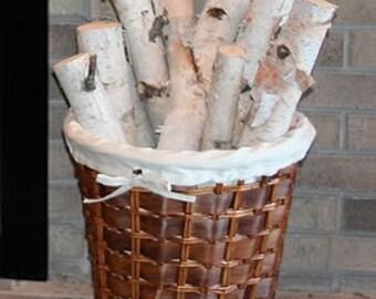Bundle of White Birch Logs