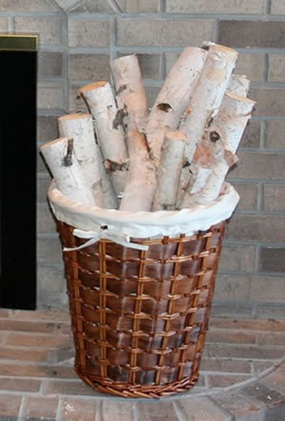 Bundle Of White Birch Logs