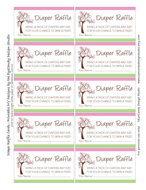 Free Printable Baby Diaper Raffle Tickets | Search Results | Calendar ...