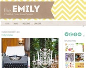 Premade Blogger Theme - The Emily Template