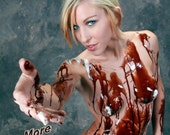 Nude Model covered in chocolate 8 x 10 Print