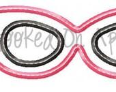 Diva Glasses Applique Design