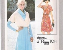 Simplicity 8417 Vintage 70s Pullover Dress Pattern Jacket Pattern Size 10 - 14 Uncut Pattern Sewing Patterns Supplies VintageYacketUSA