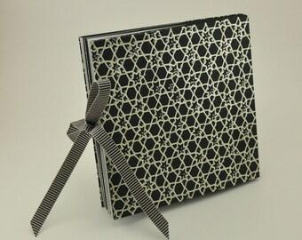 Handmade Starbook Wedding Photo Album- Black/Silver