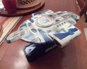 Star Trek DS9 USS Defiant Sisko Ship Model Kit custom lit with base and decals