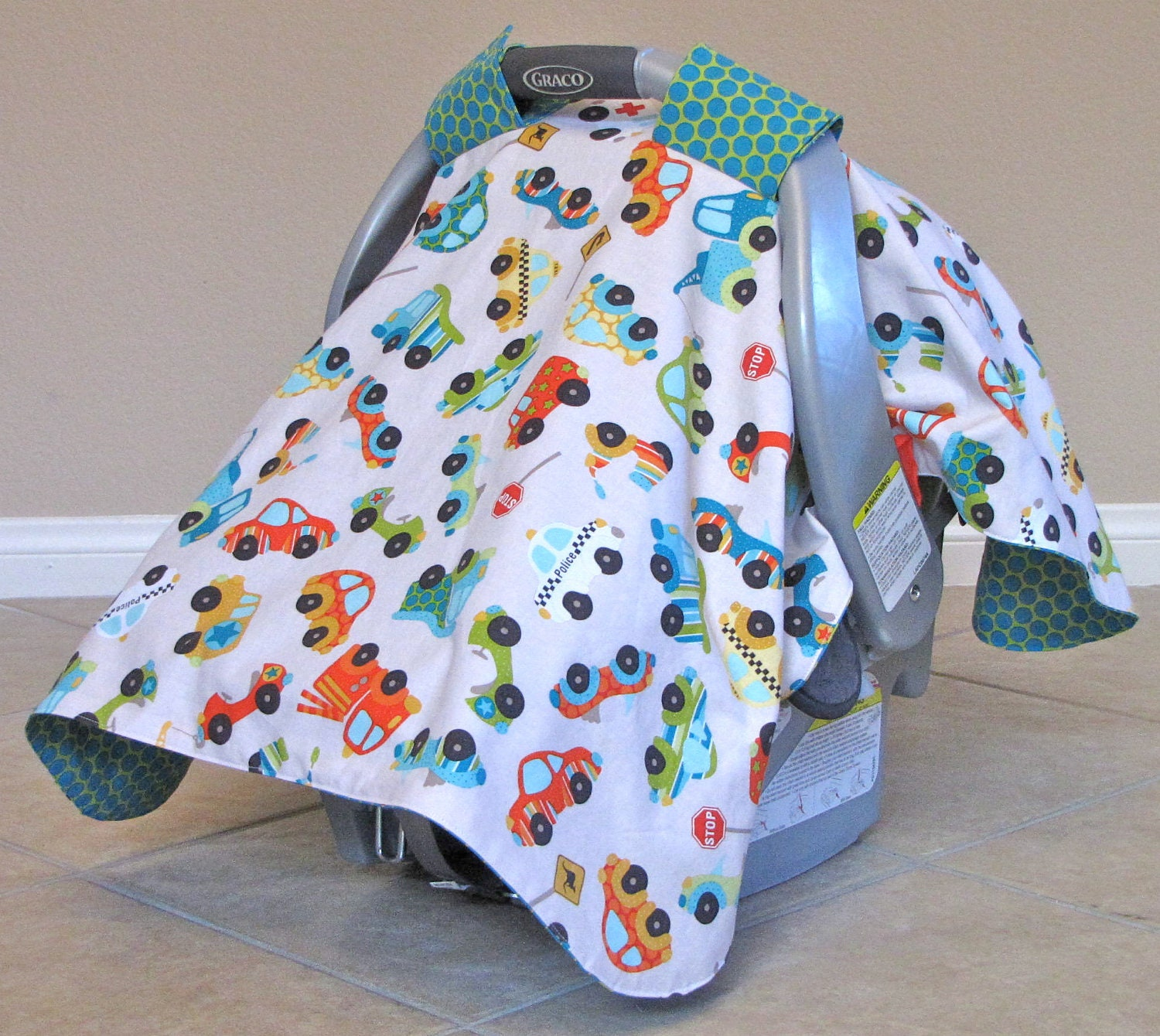 Carseat canopy car seat cover riley blake peak hour car for Canopy boys