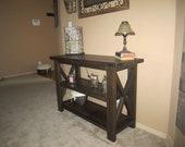 Solid Cedar Entry / Sofa Table