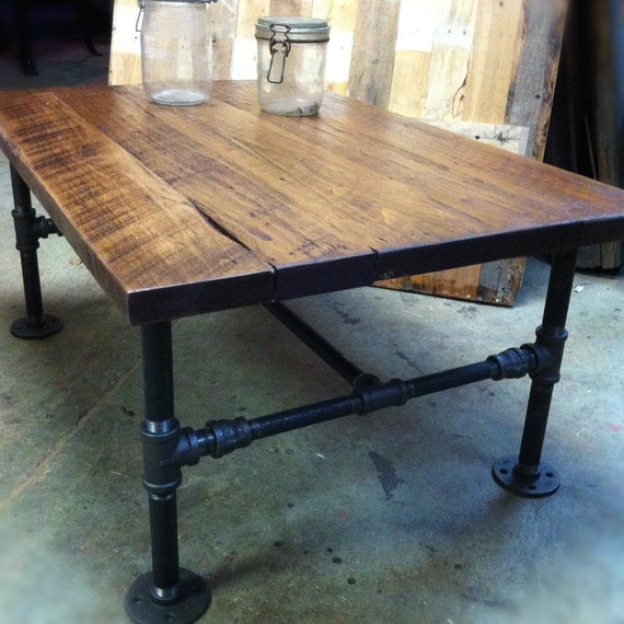 Build Industrial Coffee Table: Items Similar To Cast-Iron Pipe Coffee Table On Etsy