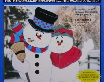 Snowman Snowy Hug Wood Craft Pattern